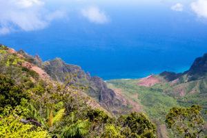 Na Pali kust vanuit Kōkeʻe State Park