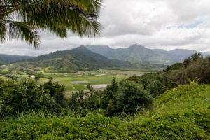 Vergezicht op Kauai