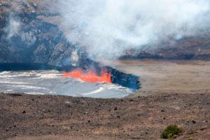 Lava in de Halema'uma'u krater
