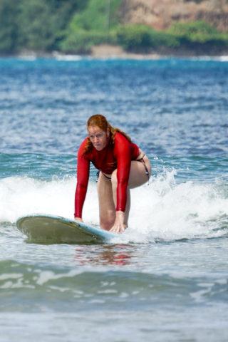 When on Hawaii, go surfing!